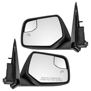 New Pair Set Power Side Mirror Heated Blind Spot Glass Escape Mercury