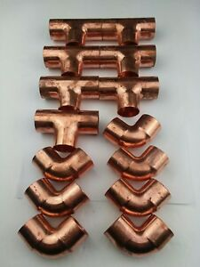 14 nibco 1 Sweat Wrot Copper Elbows And Tees