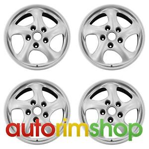 Porsche 911 Carrera Boxter 1997 2005 17 Factory Oem Staggered Wheels Rims Set