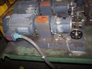 Liquiflo 1 5 Hp Stainless Steel Gear Pump 1 5 Port Flanged 33fc1331mca