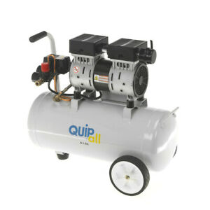Quipall 6 1 sil Oil Free Silent Compressor 1 0 Hp 6 3 Gallon Steel Tank New