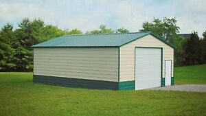 30x41x10 Steel Metal Workshop Garage Utility Shed Building Barn