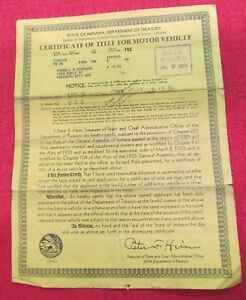 1936 Ford Truck Vintage Car Historical Memorabilia Document