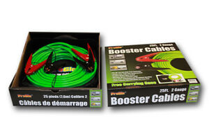 Century 25 2 Gauge Pro Glo Battery Booster Cables W Case