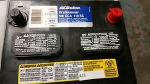 Ac delco Pro Series Battery 86ps 88865255 590cca 110rc Pick Up Only