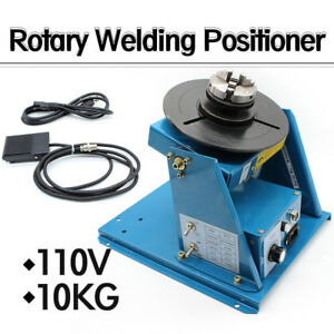 110v Rotary Welding Positioner Turntable Table Mini 2 5 3 Jaw Lathe Chuck 10kg