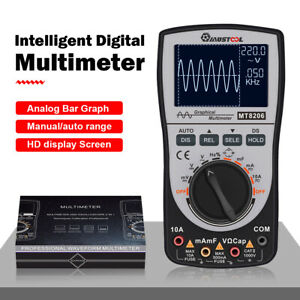 2 In 1 Upgraded Mustool Mt8206 Intelligent Digital Oscilloscope Multimeter Ac dc