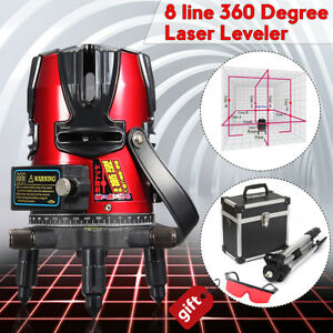 8 Line Automatic Self Leveling Rotary Laser Level Beam Meter Measure Kit