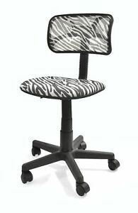 Urban Shop Zebra Swivel Mesh Task Chair New