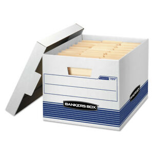 Fellowes Stor file Med duty Ltr lgl Storage Boxes Locking Lid 12 ct 789 New