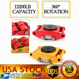 4 Rollers Industrial Machinery Mover With 360 rotation Cap 13200lbs Dolly Skate