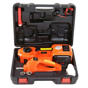 12v Dc 5t 3 In 1 Auto Car Electric Hydraulic Floor Jack Lift With Impact Wrench