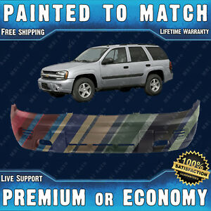 New Painted To Match Front Bumper Fascia Exact Fit For 2002 08 Chevy Trailblazer