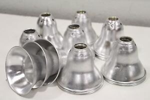 Lot Of 25 Recessed 5 Baffle Can Light Metal Silver Reflective Metal Lighting