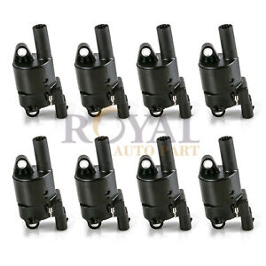 8 Pcs Gn10165 Round Ignition Coil Set Of 8 For Chevy Gmc Cadillac Pontiac Buick
