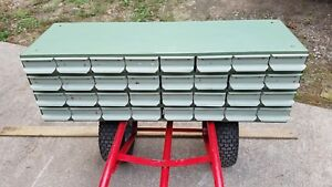 Equipto 32 Drawer Industrial Cabinet W dividers Nuts bolts parts Bin Vintage