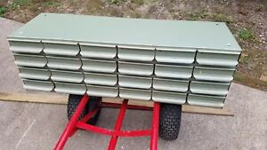 Equipto 24 Drawer Industrial Cabinet W dividers Nuts bolts parts Bin Vintage