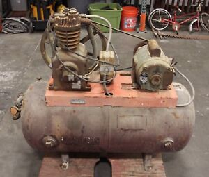 Devilbiss Model 330 4 5hp Tank Mounted Air Compressor 115v Single Phase