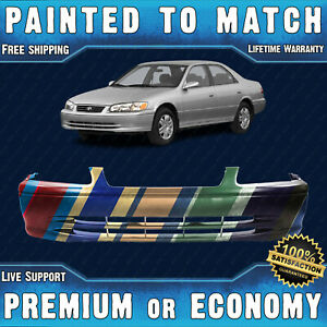 New Painted To Match Front Bumper Replacement Fascia For 2000 2001 Toyota Camry