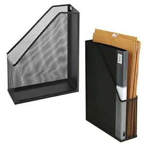 Wire Mesh Wall Mounted Or Freestanding Document Rack Magazine And File Holder
