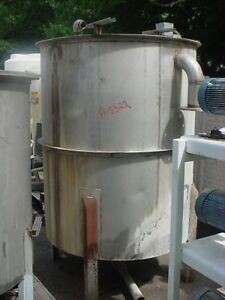 475 Gallon Stainless Steel Tank dished Bottom Mix Or Storage