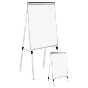 Universal One Adjustable White Board Easel 29 X 41 White silver 43033 New
