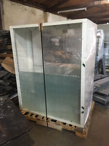 Upper reagent Glass Lab Cabinets With Sliding Glass Doors And Shelves 4 x5