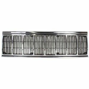 Jeep Cherokee Wagoneer 91 96 Front Grille Car Chrome Grill New