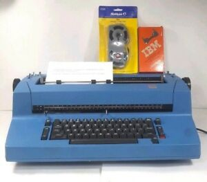Vtg Ibm Selectric Ii 893 Correcting Typewriter Blue Tested Electric Cartridge