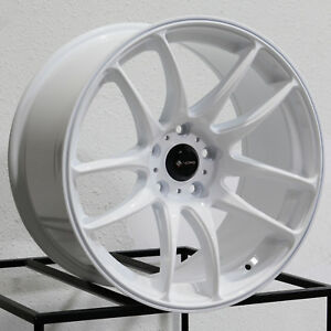 17x8 17x9 Vors Tr4 5x114 3 35 30 White Wheels Rims Set 4