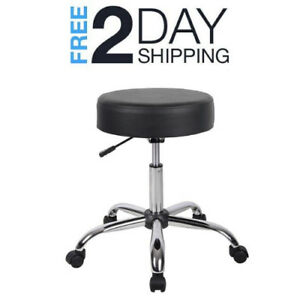 Stool Medical Doctor Office Furniture Lab Black Adjustable Dental Exam Chair