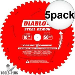 Diablo D1050cf 10 Steel Demon Cerment Ii Metal Cutting Blade 5x New