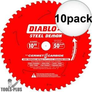 Diablo D1050cf 10 Steel Demon Cerment Ii Metal Cutting Blade 10x New