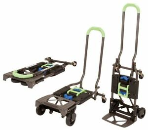 Convertible Hand Truck Dolly Cart Multi position 300lb Capacity Folding Portable