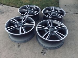 Ford Mustang Rims Charcoal 5 Split Spoke 03808a