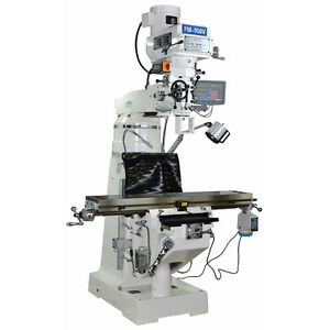 Pm 950v Vertical Knee Mill Milling Machine 3 Ax Dro X Pwr 1ph Free Shipping