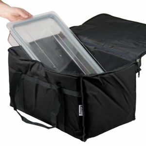 Insulated Black Catering Delivery Chafing Dish Food Full Pan Carrier Bag