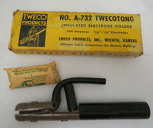 Early Tweco A 732 300 Amp Insulated Electrode Holder Twecotong No 103 Nos