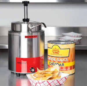 3 5 Qt 10 Can Warmer Pump Hot Fudge Caramel Nacho Cheese Commercial Dispenser