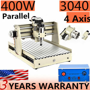 Ballscrew 400w 3040 4 Axis Cnc Router Engraver Engraving Milling Machine Ups Usa