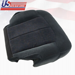 2000 Chevy Silverado 1500 2500 3500 Driver Side Bottom Cloth Seat Cover Dk Gray