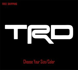 Trd Vinyl Decal For Toyota Truck Tacoma Tundra Window Sticker 4x4 Racing Develop