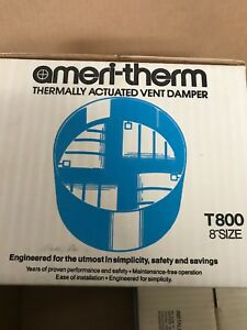 New Ameritherm Ameri therm Thermally Actuated Vent Hood Damper T800 8 Size