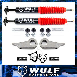 3 Front Leveling Lift Kit W Wulf Extended Shocks For 1998 2011 Ford Ranger 4x4
