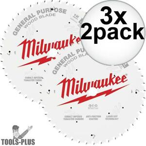 Milwaukee 48 40 1232 12 44t 80t Two Pack Circular Saw Blade 3x New
