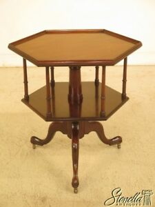 43980e Kittinger Cw 161 Colonial Williamsburg Octogonal Mahogany Table