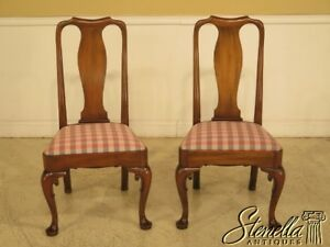 44038ec Pair Kittinger Cw 142 Colonial Williamsburg Mahogany Side Chairs
