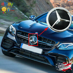Mercedes Chrome Front Grill Star Emblem Crystal Glass Style Amg Modified