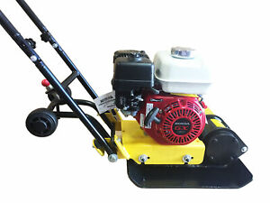 Honda Gx160 Vibratory Plate Compactor Gas Power Recoil Start Walk Behind