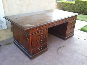 Used Executive Desk Solid Wood Cherry Local Pick Up Only